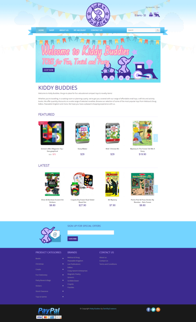 Kiddy Buddies website