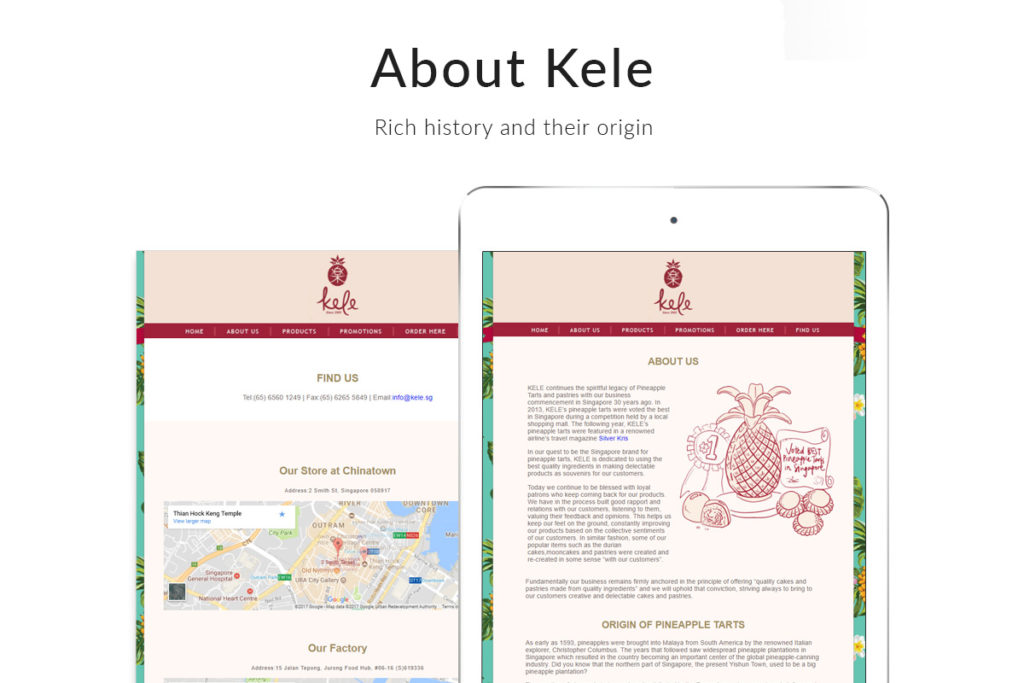 Kele-Showcase-feature-pages-history